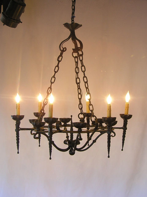 Lighting fixtures chandeliers home decorating resources home antique iron chandelier from france fob1 mozeypictures Choice Image